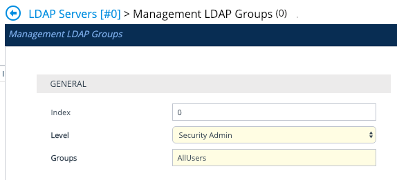 AudioCodes LDAP Server LDAP Group