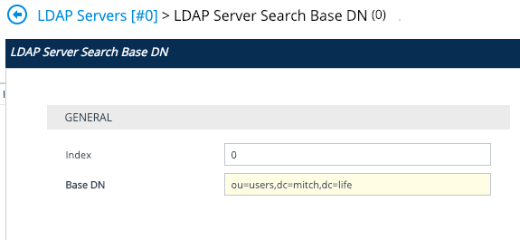 AudioCodes LDAP Server Search Base